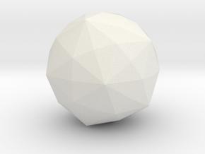Disdyakis Triacontahedron in White Natural Versatile Plastic