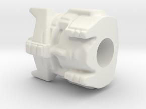 Prowl hoofd  Siege combiner wars hoofd 15mm  in White Natural Versatile Plastic
