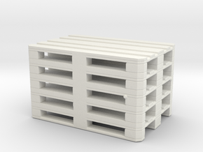 Euro Pallet Stack 1/48 in White Natural Versatile Plastic