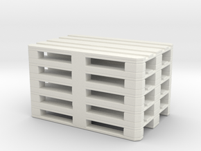 Euro Pallet Stack 1/43 in White Natural Versatile Plastic