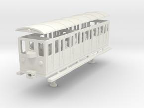 wengernalpbahn person wagon coach h0e b 22 in White Natural Versatile Plastic