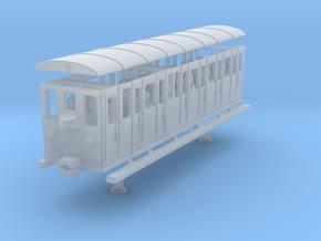 wengernalpbahn person wagon coach h0e b 22 in Smooth Fine Detail Plastic