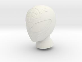 8 in MMPR White Helmet in White Natural Versatile Plastic