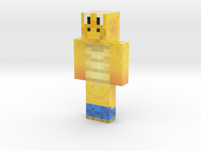 Blue Koopa | Minecraft toy in Glossy Full Color Sandstone