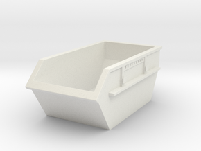 Construction Waste Container 1/24 in White Natural Versatile Plastic