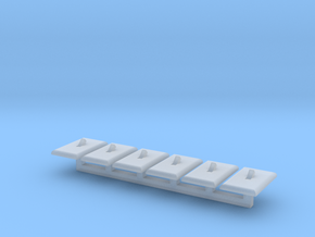 Light Switch Faces Only, 1/24 Scale in Smooth Fine Detail Plastic