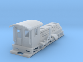 25 Ton Shunter Poling car Z scale in Smooth Fine Detail Plastic