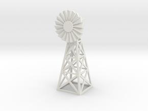Steel Windmill 1/76 in White Natural Versatile Plastic