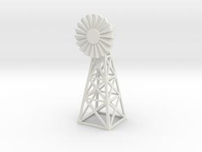 Steel Windmill 1/120 in White Natural Versatile Plastic