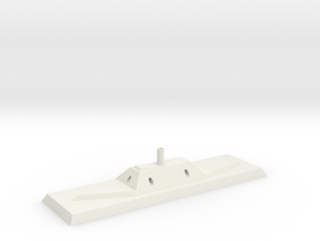 Civil War Ironclad-CSS Albemarle in White Natural Versatile Plastic: 1:600