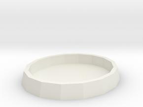 voronoi-lamp base  in White Natural Versatile Plastic