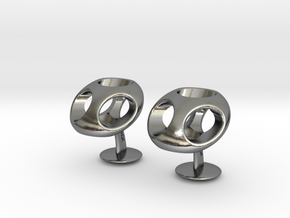 TriCufflinks in Polished Silver