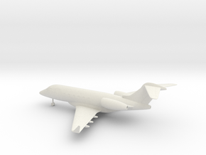 Bombardier Challenger 300 in White Natural Versatile Plastic: 1:100