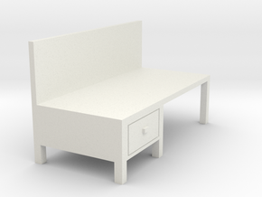 Workbench Table 1/72 in White Natural Versatile Plastic