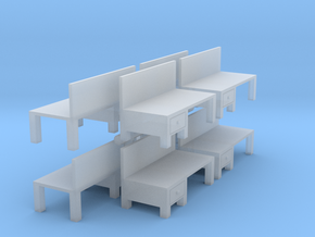 Workbench Table (x8) 1/200 in Smooth Fine Detail Plastic