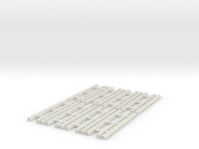 Dual Gauge Baulk Road Sleepers Multipack (N Scale) in White Natural Versatile Plastic