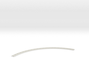 Dual Gauge Baulk Road LH Curve - Long (N Scale) in White Natural Versatile Plastic