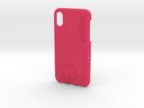 iPhone X Wahoo Mount Case in Pink Processed Versatile Plastic