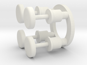 early carriage buffers in White Natural Versatile Plastic