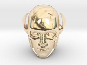 The Flash Head | CCBS Scale in 14k Gold Plated Brass
