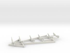1/72 USN PT Boat Cradle v2 in White Natural Versatile Plastic