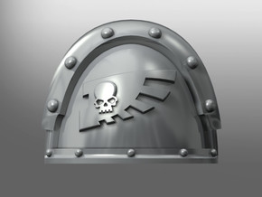 Metallus ptrn shoulder pads: Wings of Absolution in Smooth Fine Detail Plastic: Small