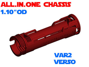 """ALL.IN.ONE - 1.10""""OD - Verso chassis Var2 in White Natural Versatile Plastic"""