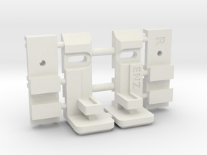 Enzo - Supports réglables v2 in White Natural Versatile Plastic