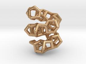 Polytwistane Helix Pendant in Natural Bronze