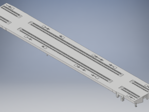 DODX Flatcar - Vehicle Deck and Frame in Smooth Fine Detail Plastic