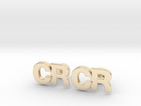 Monogram Cufflinks CR in 14K Yellow Gold