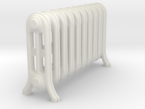 Radiator A in White Natural Versatile Plastic