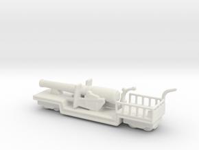 9.2 mk 1 truck 1/160 ww1 railway artillery in White Natural Versatile Plastic