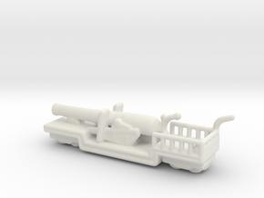 9.2 mk 1 truck 1/285 6mm ww1 railway artillery in White Natural Versatile Plastic
