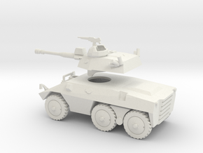 036K EE9 Cascavel with Separated Turret 1/72 in White Natural Versatile Plastic