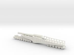 vikers bl 12 inch mk 2 1/285 6mm ww1 railway  in White Natural Versatile Plastic