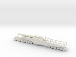 vikers bl 12 inch mk 2 1/144 ww1 railway artillery in White Natural Versatile Plastic