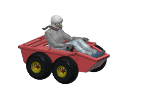 VALLEY FORGE 1/56 BUGGY W DRIVER HELMET in Smooth Fine Detail Plastic