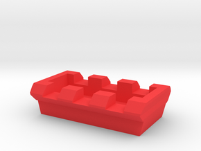 MPX 3 Slots Picatinny Rail in Red Processed Versatile Plastic
