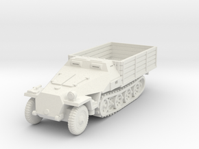 Sdkfz 251 D Pritschen 1/72 in White Natural Versatile Plastic