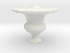 half of ornament for banister in White Natural Versatile Plastic