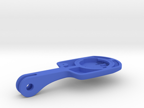 Wahoo Elemnt Bolt Blendr Mount - Long in Blue Processed Versatile Plastic