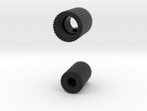 Dual Encoder Knob for Flight Simulators in Black Natural Versatile Plastic