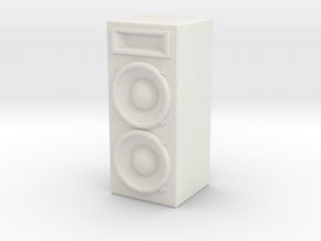 Stage Speaker 1/12 in White Natural Versatile Plastic