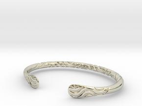 Bracelet Weave Ornament in 14k White Gold