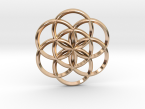 Seed of Life in 14k Rose Gold Plated Brass: Small