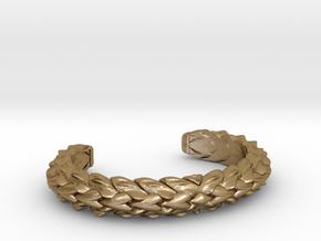 HYBRID CUFF medium NARROW in Polished Gold Steel