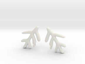 Elder Sign Earring (Pair) in White Strong & Flexible