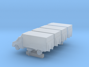 GSE 1:400 Small Cargo Truck 4pc in Smooth Fine Detail Plastic