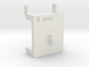 Wrench Hanger - 6 mm in White Natural Versatile Plastic